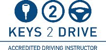 keys2drive accredited driving instructor